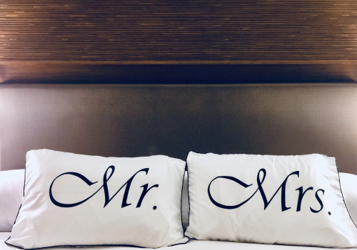 Wedding Date Pillow